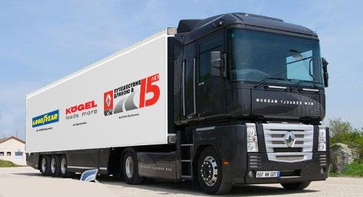 5–23 июня 2011 г. пробег грузовых автомобилей Renault